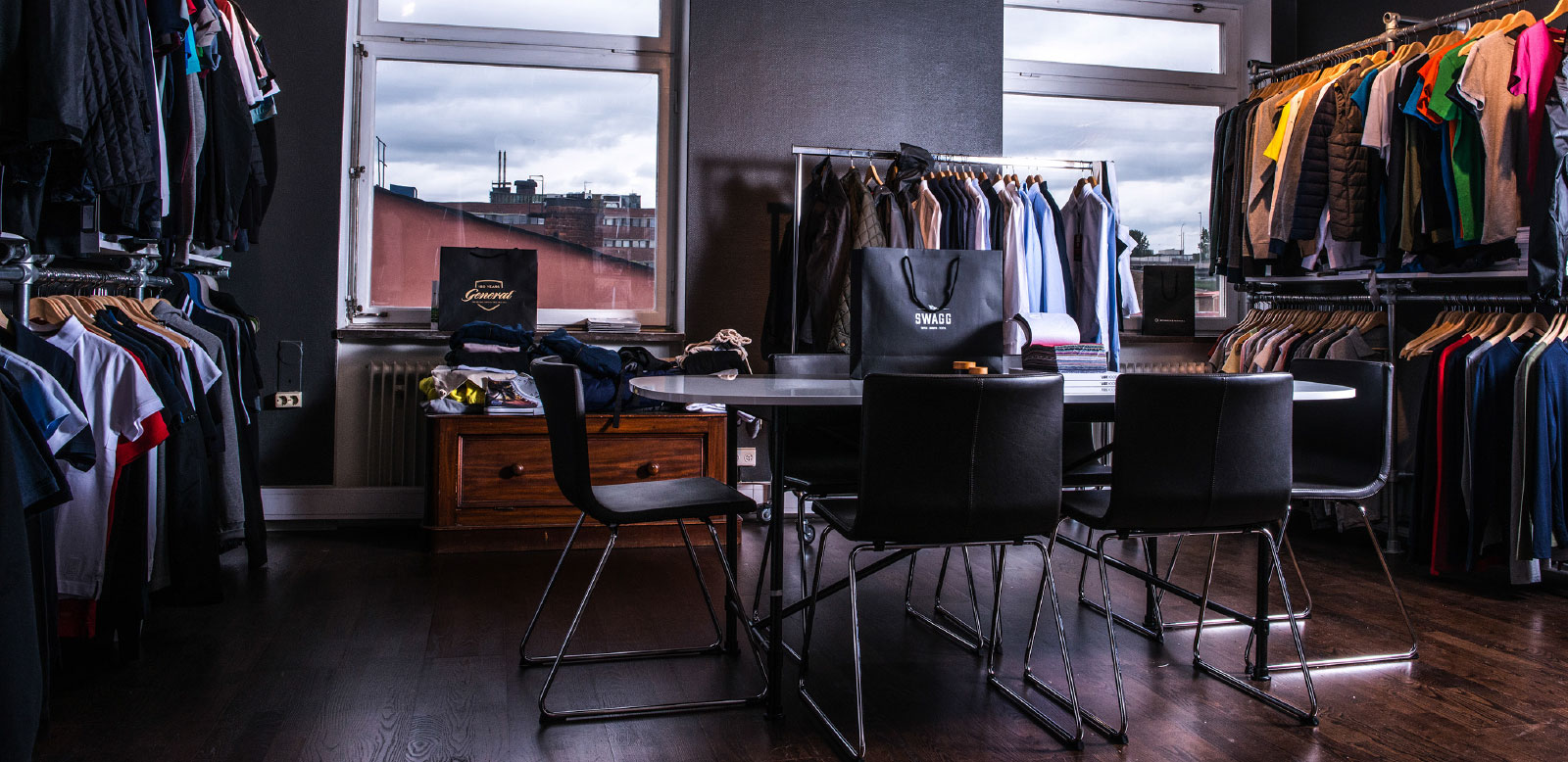 Swagg tryckeri showroom Stockholm